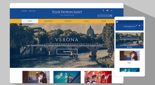 Want a classic website design with a modern touch? Try Verona!