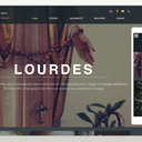 Beautiful new Catholic website design template: Introducing Lourdes