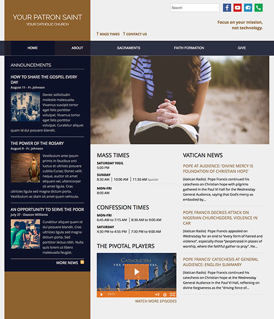 New themes added to eCatholic 5 - eCatholic | Catholic Website