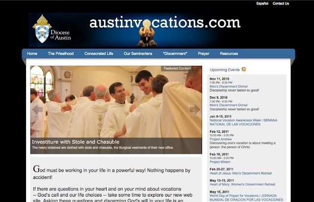 Diocese of Austin vocations office website