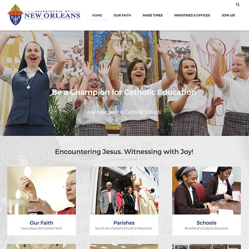 Archdiocese of New Orleans website