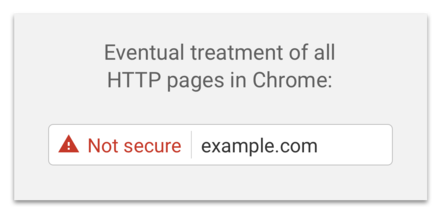 All HTTPS pages will be marked as Not Secure