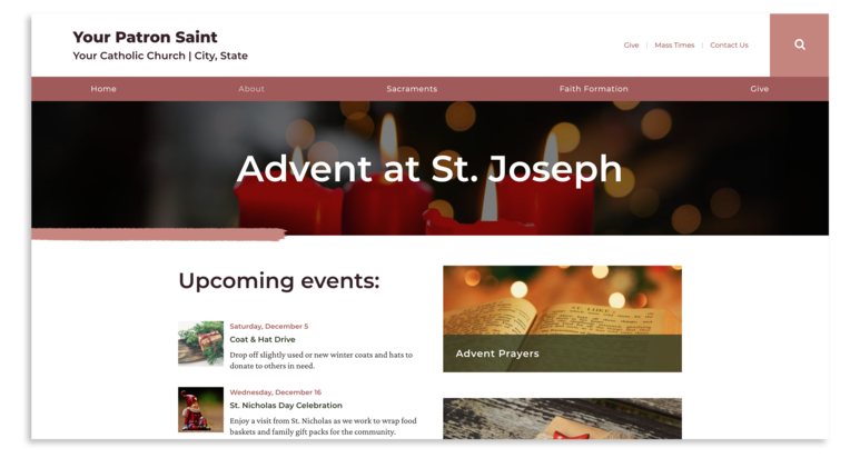 Advent Page Example