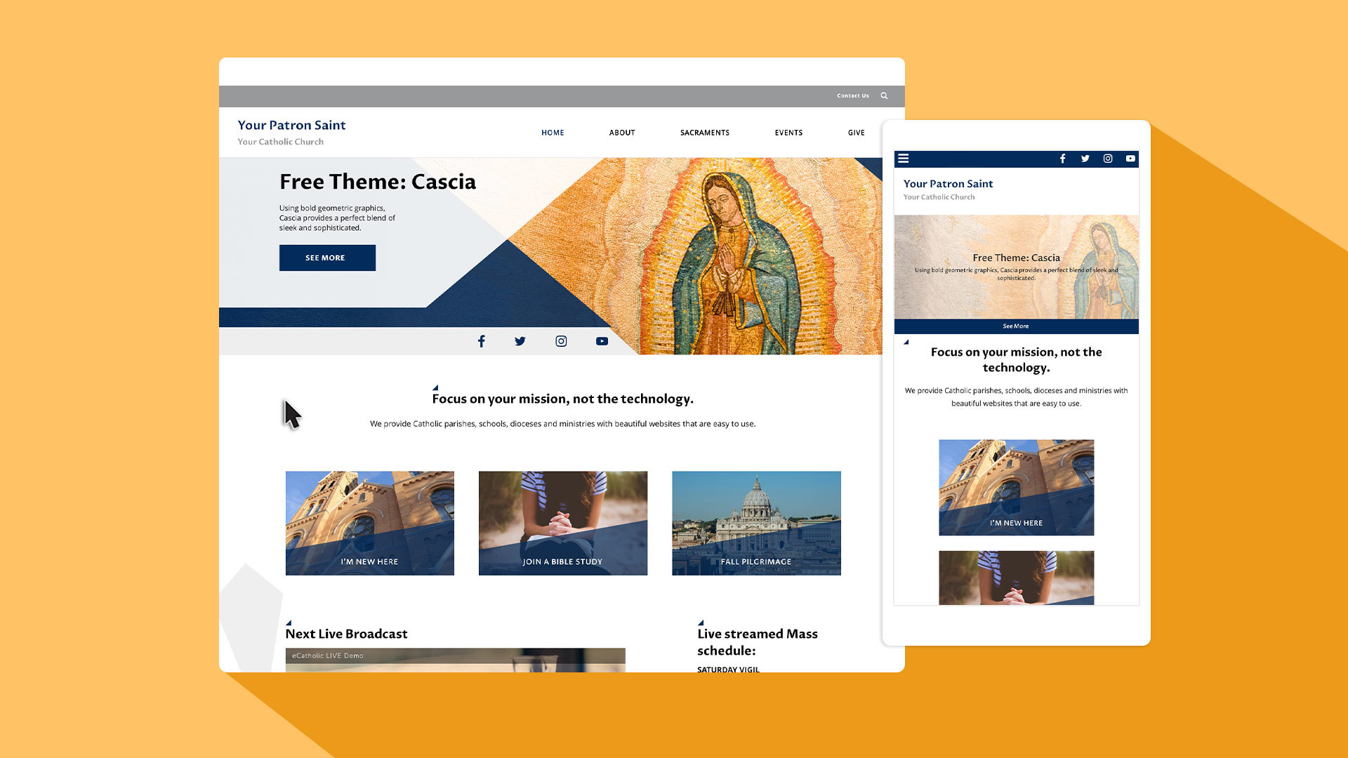 Enjoy sleek & sophisticated style with our newest theme, Cascia