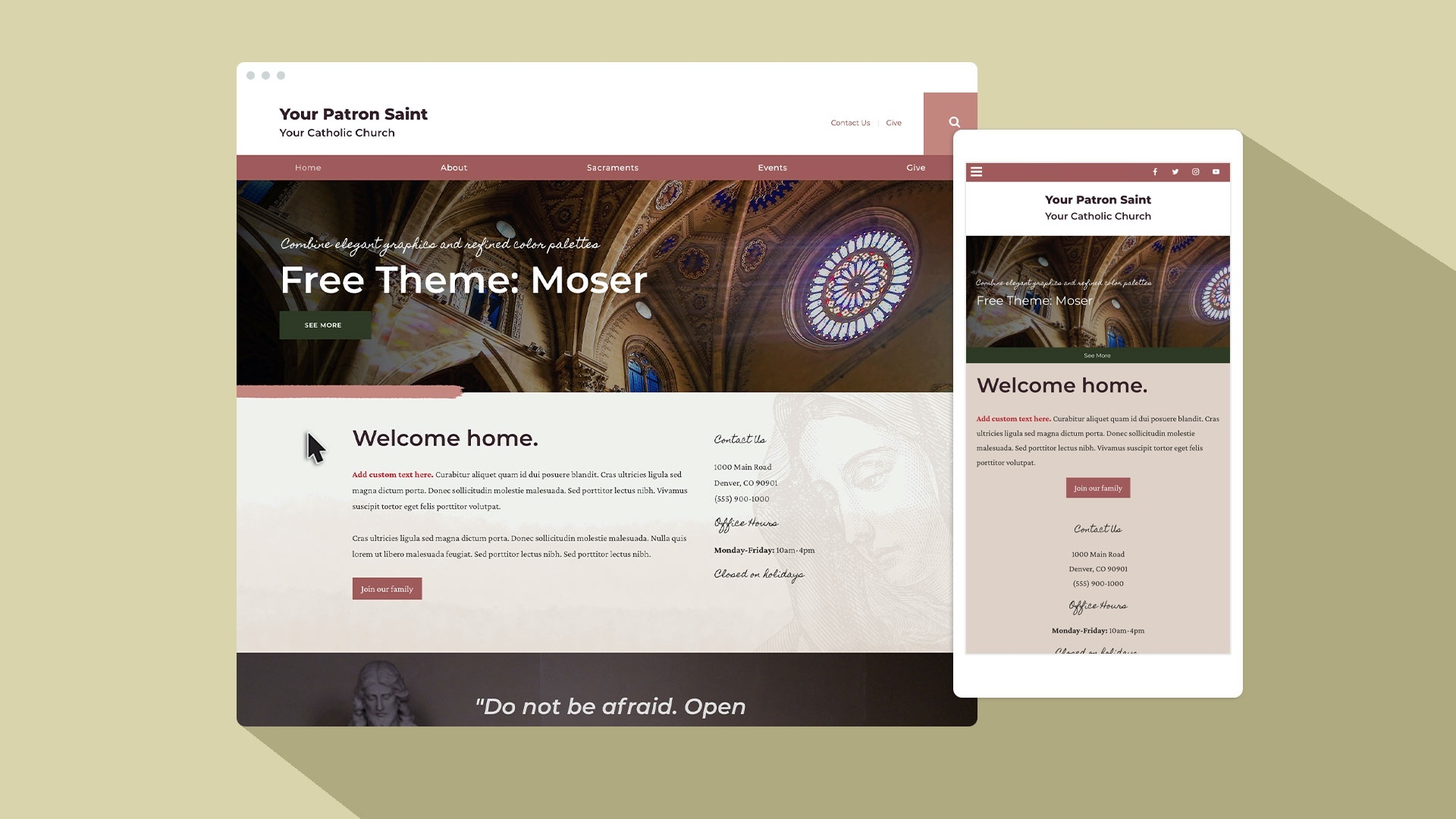 Learn the story behind Moser, eCatholic's newest free theme