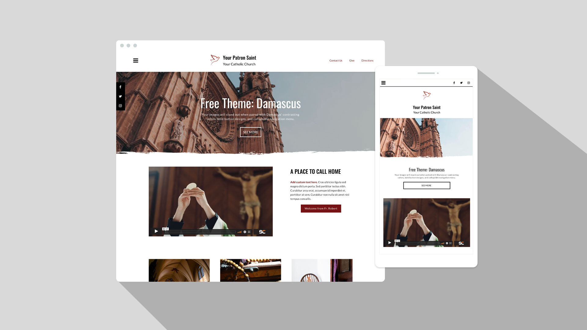 Damascus free theme offers new navigation and site name options