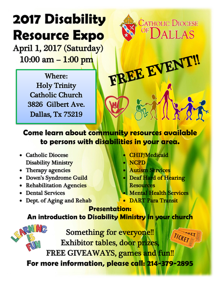 Disability Ministry Resource Expo Flyer