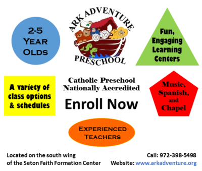 Ark Adventure Preschool is Enrolling Now