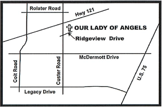 Map to Our Lady of Angels