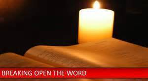 Breaking Open the Word - Bible and candle