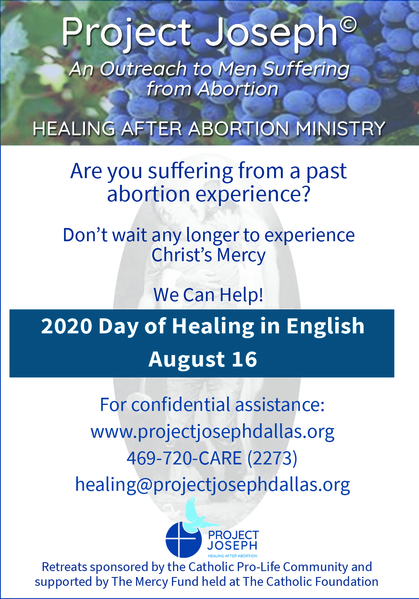 Project Joseph 2020 Day of Healing is August 16