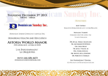 Dominican Sunday 20th Anniversary Gala