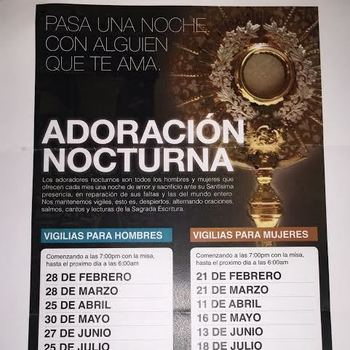 Nocturnal Adoration (Men's Vigil)