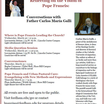 Reflecting on the Vision of Pope Francis