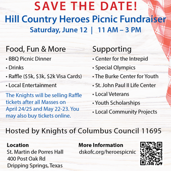 Hill Country Heroes Picnic Fundraiser