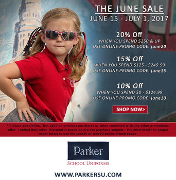 Parker Uniform Sale