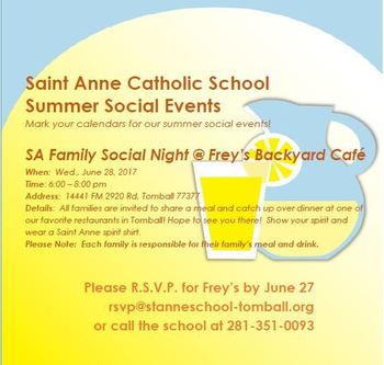 Summer Social at Frey's Backyard