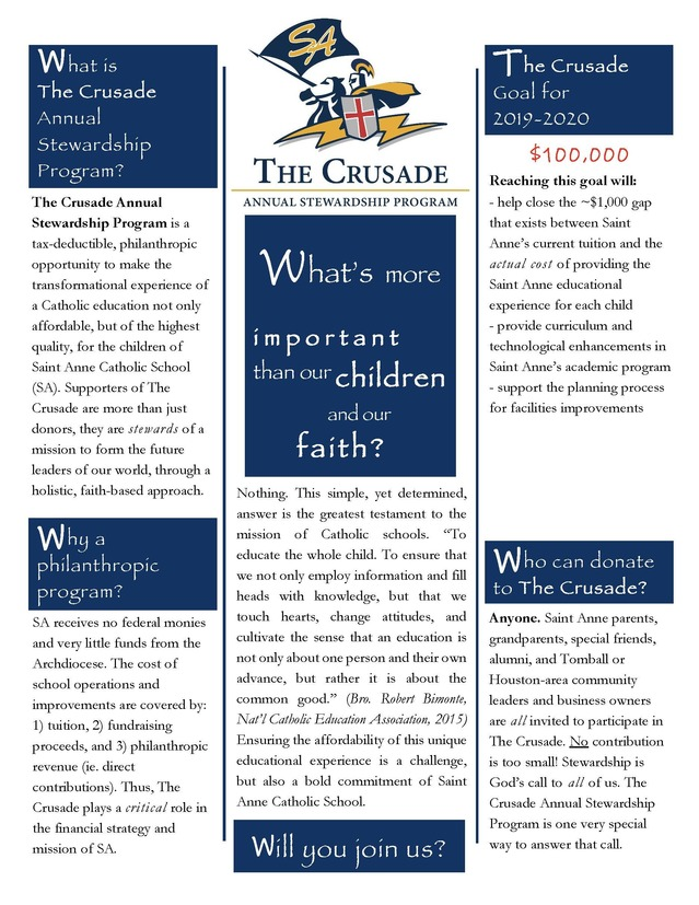 Crusader Annual Stewardship Program