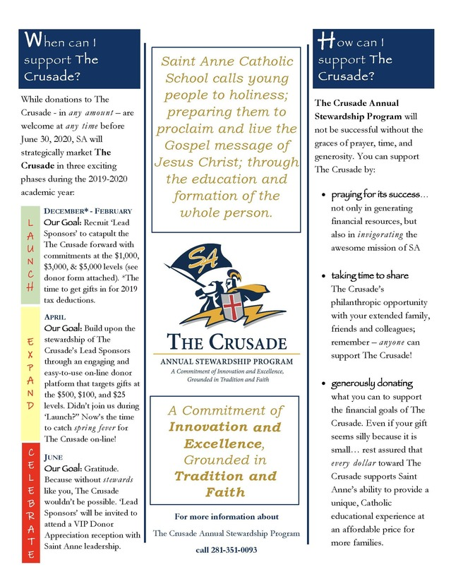 Crusader Annual Stewardship