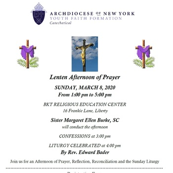 Lenten Afternoon of Prayer
