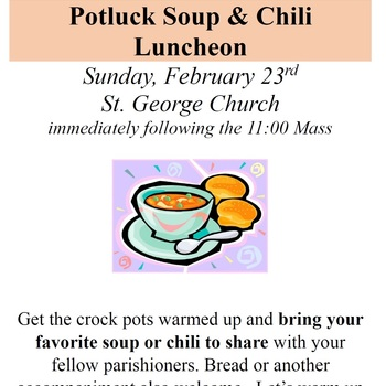 Potluck Soup and Chili Luncheon
