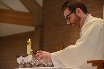 First Mass Celebrated by Father Michael Arey