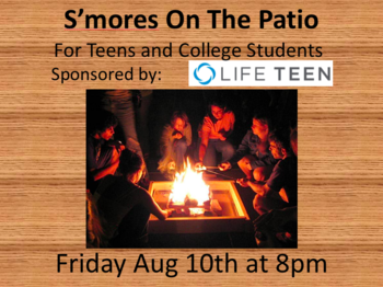Life Teen S'mores on the Patio