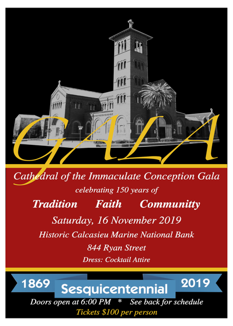 Purchase Tickets to the Sesquicentennial Gala on November 16!