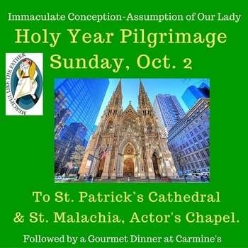 Pilgrimage to St. Patrick Cathdral on 5th Avenue