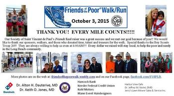 THANK YOU! EVERY MILE COUNTS!!!!!