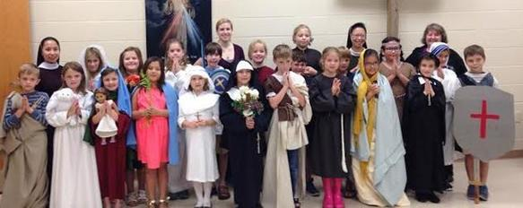 3rd Grade SRE Celebrating All Saints pic