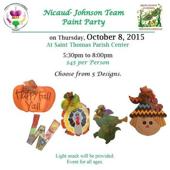 Nicaur-Johnson Team Paint Party