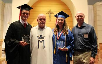 The 2021 Father Louis Lohan Outstanding Young Woman and Outstanding Young Man of the Year
