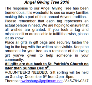 Angel Giving Tree 2018