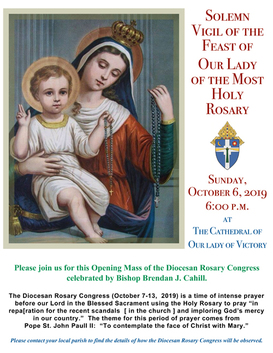 Solemn Vigil of the Feast Of Our Lady of the Most Holy Rosary