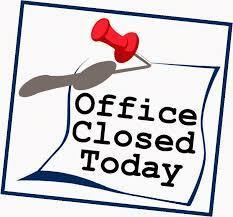 PARISH OFFICE CLOSED IN OBSERVANCE OF THANKSGIVING DAY