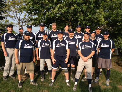 St. Thomas a'Becket Men's Blue Softball Team