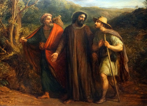 Jesus on the road to Emmaus