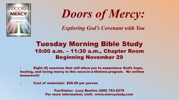 Doors of Mercy Tuesday Morning Bible Study