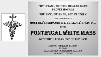 White Mass w/Bishop Guillory