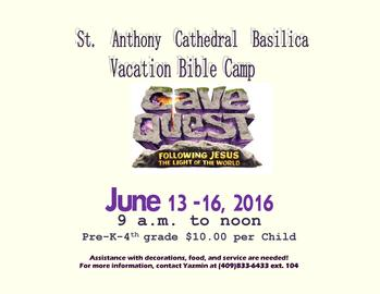 SACB 2016 Vacation Bible Camp