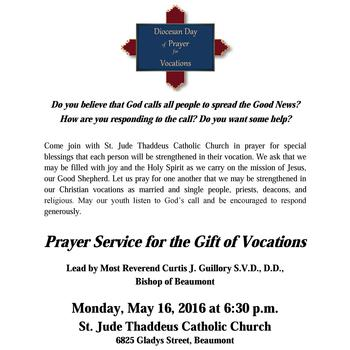 Diocesan Day of Prayer for Vocations