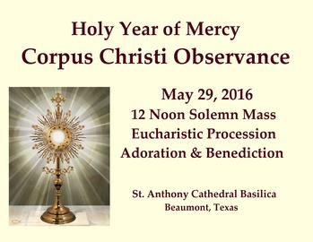 Holy Year of Mercy Corpus Christi Observance