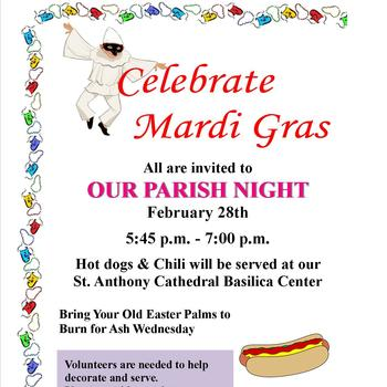 Parish Night Mardi Gras!