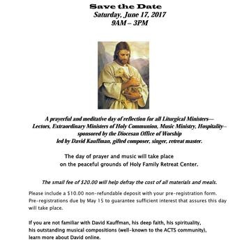 Liturgical Ministers Day of Reflection