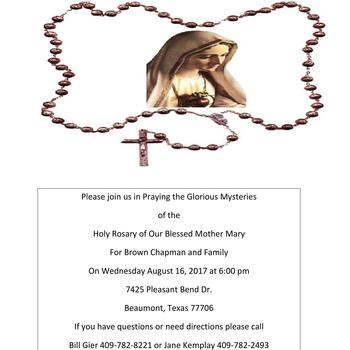 Pray the Rosary for the Chapman Family