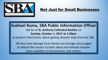 """Not Just for Small Businesses"" SBA Information Session"