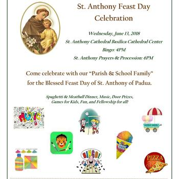 St. Anthony Feast Day Celebration--Fiesta de nuestro Patron San Antonio