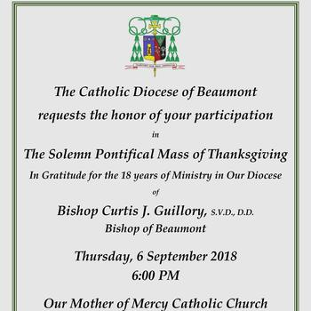 Solemn Pontifical Mass of Thanksgiving