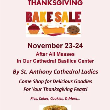 Cathedral Ladies Thanksgiving Bake Sale